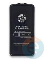 Защитное стекло 6D с полной проклейкой на Samsung Galaxy A80 черное