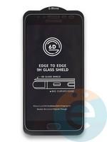 Защитное стекло 6D с полной проклейкой на Samsung Galaxy J4 черное