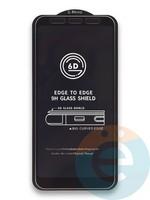 Защитное стекло 6D с полной проклейкой на Samsung Galaxy J6 Plus черное