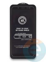 Защитное стекло 6D с полной проклейкой на Samsung Galaxy J6 черное