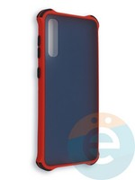 Накладка пластиковая матовая с усиленными углами для Samsung Galaxy A50/A30s красная