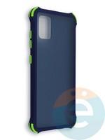 Накладка пластиковая матовая с усиленными углами для Samsung Galaxy A51/M40S синяя