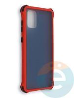Накладка пластиковая матовая с усиленными углами для Samsung Galaxy A71 красная