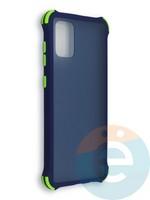 Накладка пластиковая матовая с усиленными углами для Samsung Galaxy A71 синяя