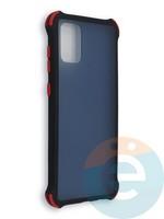 Накладка пластиковая матовая с усиленными углами для Samsung Galaxy A71 черная