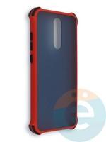 Накладка пластиковая матовая с усиленными углами для Xiaomi Redmi 8 красная