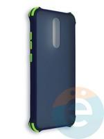 Накладка пластиковая матовая с усиленными углами для Xiaomi Redmi 8 синяя