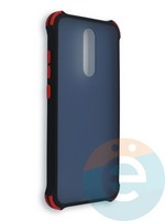 Накладка пластиковая матовая с усиленными углами для Xiaomi Redmi 8 черная