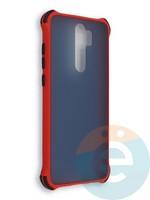 Накладка пластиковая матовая с усиленными углами для Xiaomi Redmi Note 8 Pro красная