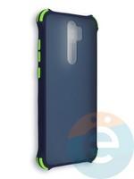 Накладка пластиковая матовая с усиленными углами для Xiaomi Redmi Note 8 Pro синяя