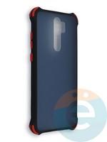 Накладка пластиковая матовая с усиленными углами для Xiaomi Redmi Note 8 Pro черная
