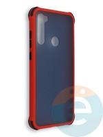Накладка пластиковая матовая с усиленными углами для Xiaomi Redmi Note 8T красная