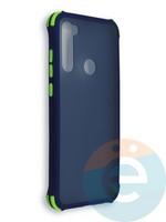 Накладка пластиковая матовая с усиленными углами для Xiaomi Redmi Note 8T синяя