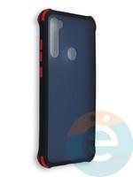 Накладка пластиковая матовая с усиленными углами для Xiaomi Redmi Note 8T черная