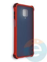 Накладка пластиковая матовая с усиленными углами для Xiaomi Redmi Note 9S/9 Pro красная