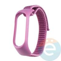 Нейлоновый ремешок для Xiaomi Mi band 3/4 фиолетовый