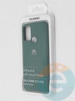 Накладка Silicone cover на Huawei Honor 9A зеленая