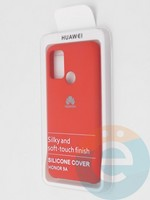 Накладка Silicone cover на Huawei Honor 9A красная