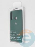 Накладка Silicone cover на Huawei P40 Lite E/Y7P зеленая