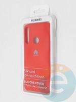 Накладка Silicone cover на Huawei P40 Lite E/Y7P красная