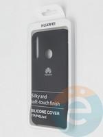 Накладка Silicone cover на Huawei P40 Lite E/Y7P черная