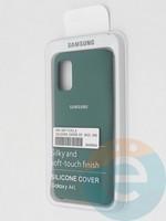 Накладка Silicone cover на Samsung Galaxy A41 зеленая