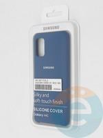 Накладка Silicone cover на Samsung Galaxy A41 синяя