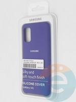 Накладка Silicone cover на Samsung Galaxy A41 фиолетовая