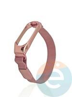 Металический ремешок Y`Case для Xiaomi Mi band 3/4 розовый