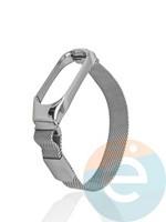 Металический ремешок Y`Case для Xiaomi Mi band 3/4 серебристый