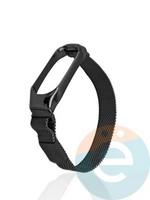 Металический ремешок Y`Case для Xiaomi Mi band 3/4 черный