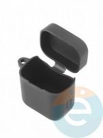 Чехол силиконовый с карабином для AirDots Pro черный