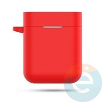 Чехол силиконовый с карабином для AirDots Pro красный