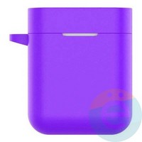 Чехол силиконовый с карабином для AirDots Pro фиолетовый