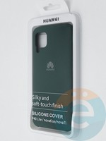 Накладка Silicone cover на Huawei P40 Lite/Nova6SE зеленая