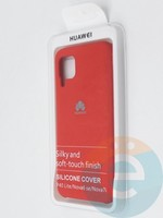 Накладка Silicone cover на Huawei P40 Lite/Nova6SE красная