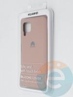 Накладка Silicone cover на Huawei P40 Lite/Nova6SE пудровая