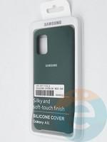 Накладка Silicone cover на Samsung Galaxy A31 зеленая