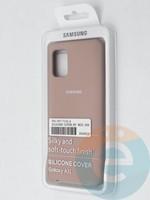 Накладка Silicone cover на Samsung Galaxy A31 пудровая
