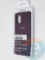 Накладка Silicone cover на Samsung Galaxy A31 светло-фиолетовая