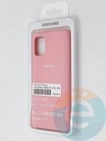 Накладка Silicone cover на Samsung Galaxy A51 розовая