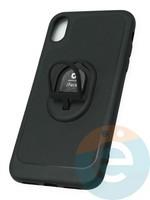 Накладка силиконовая iFace на Apple IPhone Xr с металлической пластиной рифлёная