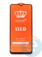 Защитное стекло 5D с полной проклейкой на Samsung Galaxy A31 черное