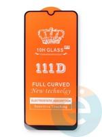 Защитное стекло 5D с полной проклейкой на Huawei Y6P черное