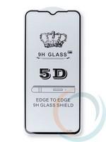 Защитное стекло 5D с полной проклейкой на Nokia 5.3 чёрное