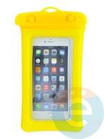 Водонепроницаемый чехол для смартфона цветной со шнурком желтый