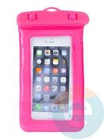 Водонепроницаемый чехол для смартфона цветной со шнурком розовый