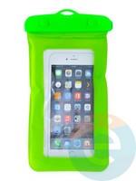 Водонепроницаемый чехол для смартфона цветной со шнурком салатовый
