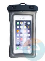 Водонепроницаемый чехол для смартфона цветной со шнурком черный
