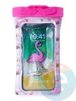 Водонепроницаемый чехол Kids для смартфона с поплавком и шнурком фламинго